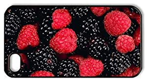 Hipster design iPhone 4S covers berries PC Black for Apple iPhone 4/4S