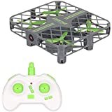 Mini RC Pocket Drone with Altitude Hold Function ,One Key Return Remote Control Camera Drone for Kids (green+basic)