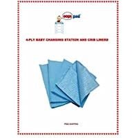 Oops Pad 4-Ply Blue Changing Station Table Liners 250ct FREE SAMPLES