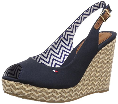 Emery 403 Blue Sandals Tommy Heels Blue Wedge Women's 62D Hilfiger 18nwH5q6