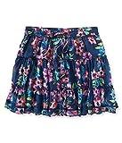 Aeropostale Womens Sheer Floral Mini Skirt Blue S - Juniors