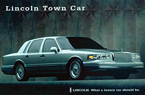 1996 Lincoln Town Car Original Factory Postcard At Amazon S