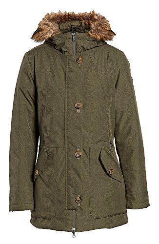 The North Face Fur Parka - The North Face Women's Mauna Kea Waterproof Insulated Parka (Green, Small)
