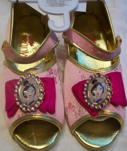 [Disney Princess Mulan, Slippers, Costume, Dress up Pretend Play Shoes Girl Size 2/3] (Wall E Costume Disney)