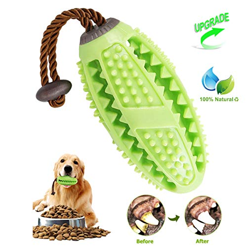 Dog Toothbrush Chew Toys, ONE PIX Multipurpose Dog Dental Care Teeth Cleaning Stick Toy with Rubber Bite Resistant