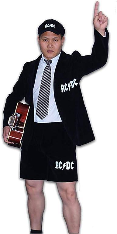 AC/DC Angus - Disfraz de colegial para Hombre, Color Negro: Amazon ...