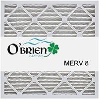 20X22X1 MERV 8 Air Filter (6 Pack) - OBrien Clean Air Filters 20x22x1(Nominal Size) 19 3/4 x 21 3/4 x 3/4 (Actual)