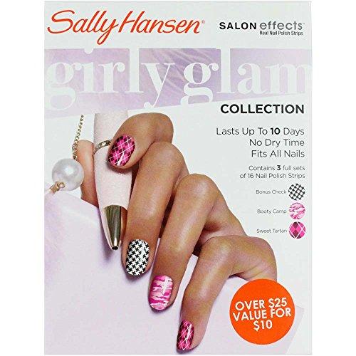 SALLY HANSEN Salon Effects Nail Polish Strips - GIRLY GLAM COLLECTION