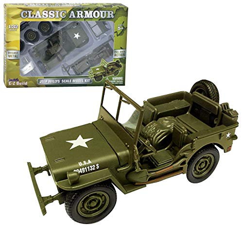 in Air E-Z Build Classic Armour Jeep Willys Scale Model for sale  Delivered anywhere in USA