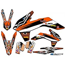 Senge Graphics Late 2001 KTM SX (Has the same plastics as the 2002 SX 250), Mayhem Orange Graphics Kit