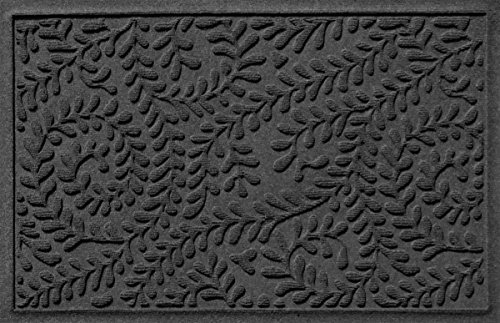 Bungalow Flooring Waterhog Doormat, 2' x 3', Skid Resistant, Easy to Clean, Catches Water and Debris, Boxwood Collection, Charcoal by Bungalow Flooring