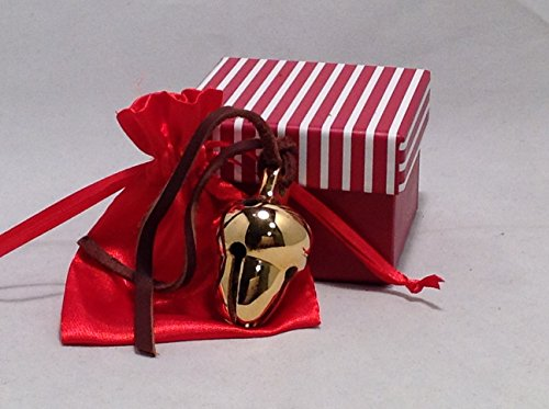 Elf Favorite Polar Double Chamber 24k Gold Plated Brass Sleigh Bell From Santa's Sleigh W I Believe Box Express From the Workshop