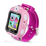Kid Smartwatch,AGPTEK Children Smart Watch Multifunction (Alarm Clock,Video Recording,Game,Stopwatch) with 90 Degree Rotating Camera,Perfect Gifts,Pink