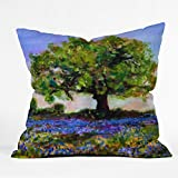 Deny Designs Ginette Fine Art Texas Hill Country Bluebonnets Throw Pillow, 16 x 16
