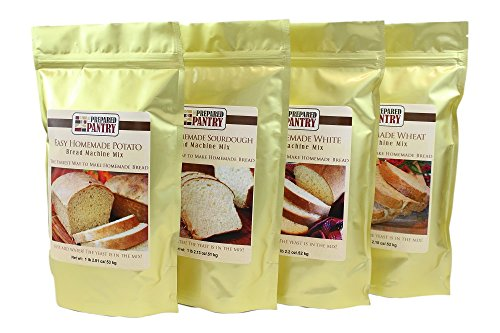 4 Mixes Easy Homemade Bread Machine Mix Collection (for oven also) ()