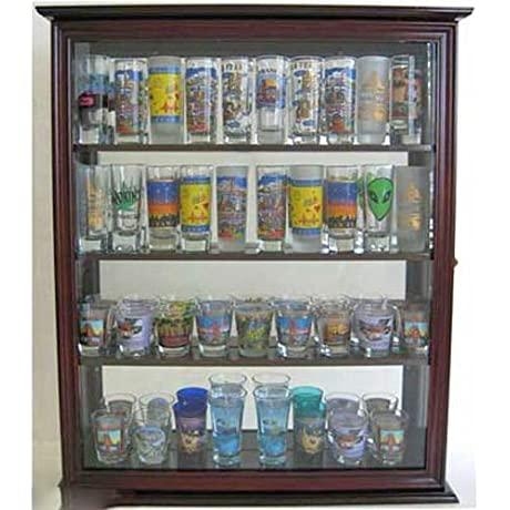 Shooter Tall Shot Glass Display Case Wall Cabinet With Glass Door
