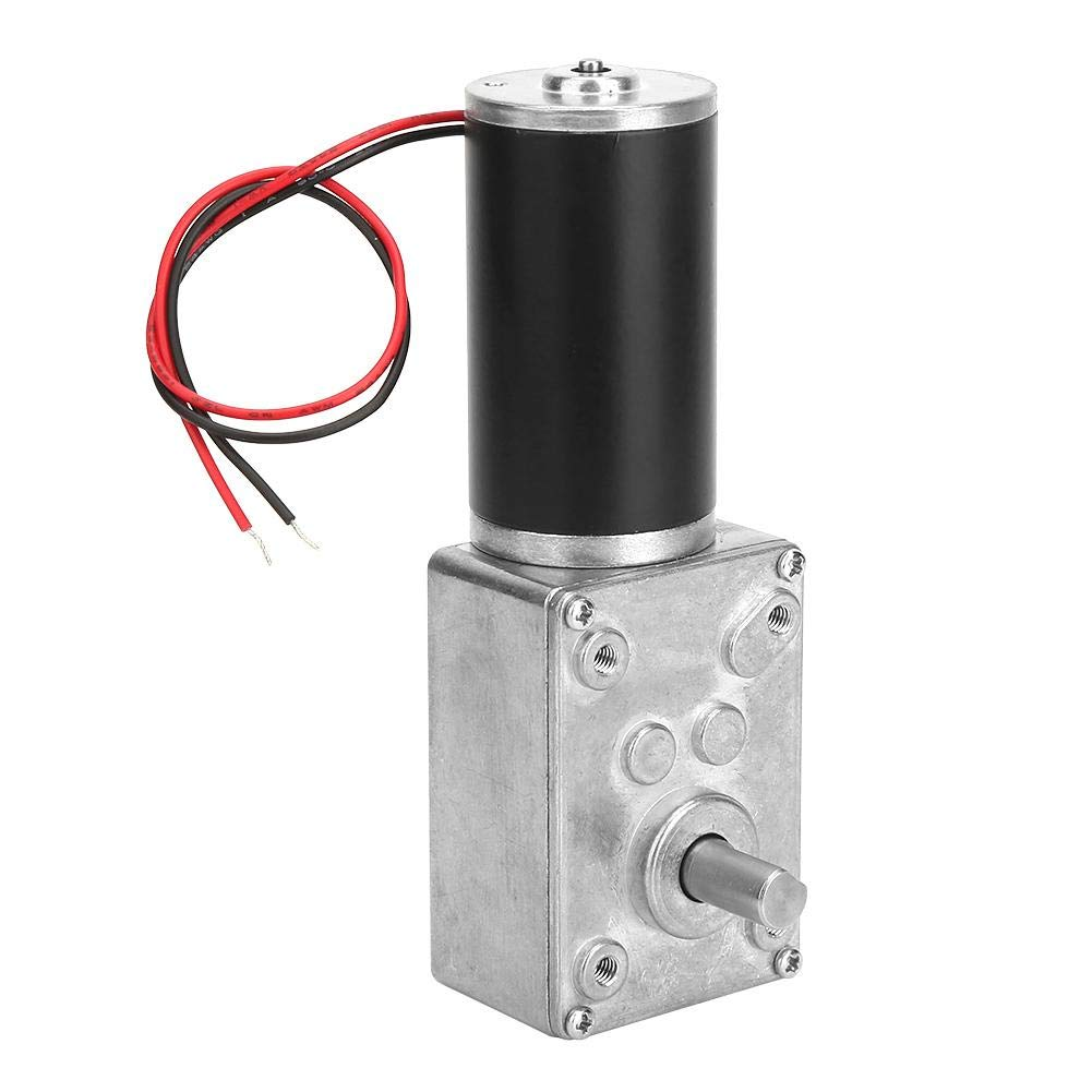 Worm Gear Motor High Torsion Speeds Reduce Electric Gearbox Motor Reversible Worm Gear Motor 8mm Shaft 24V 12RPM