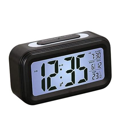 Reloj despertador digital Reloj digital Reloj despertador digital, luz de fondo, calendario, pantalla