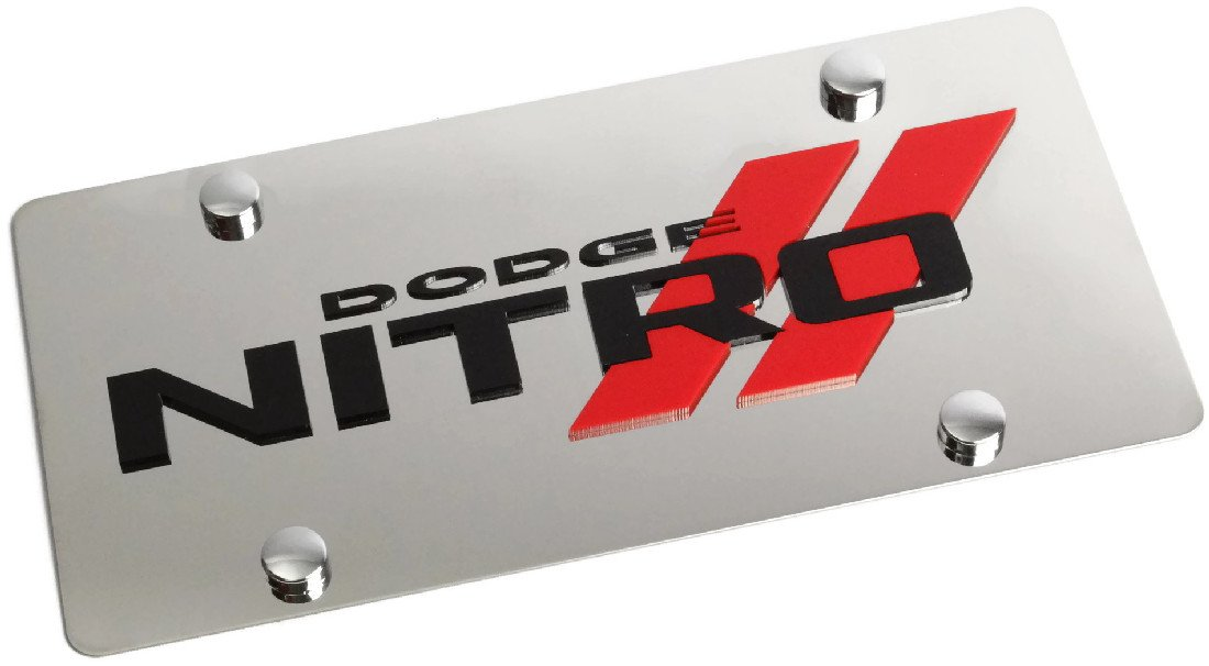 Eurosport Daytona Compatible//Replacement for Dodge Nitro Stainless Steel License Plate