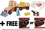 Wooden Farm Tractor + FREE Melissa & Doug Scratch Art Mini-Pad Bundle [93927]