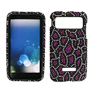 RHINESTONE CELL PHONE COVER PROTECTOR FACEPLATE HARD CASE FOR SAMSUNG CAPTIVATE GLIDE I927 BLACK CHEETAH LEOPARD 112