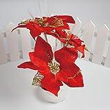 Iuhan Colorful Christmas Flower Decoration Multicolor Leaf Fiber Optic Flower Light (A)