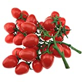 Gresorth 2 Pack (32 PCS) Ornament Artificial Red Cherry Tomatoes Faux Fake Cherries Home Kitchen Christmas Decorative
