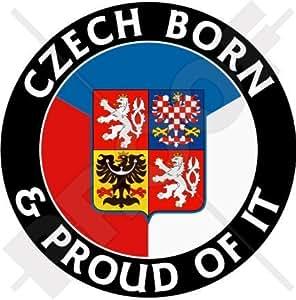 república checa nacido & Orgulloso 100mm (4) vinilo Bumper, adhesivo