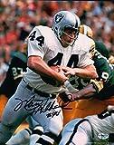 "Marv Hubbard Signed 8X10 Photo Autograph Raiders ""#44"" Auto with Ball w/COA"