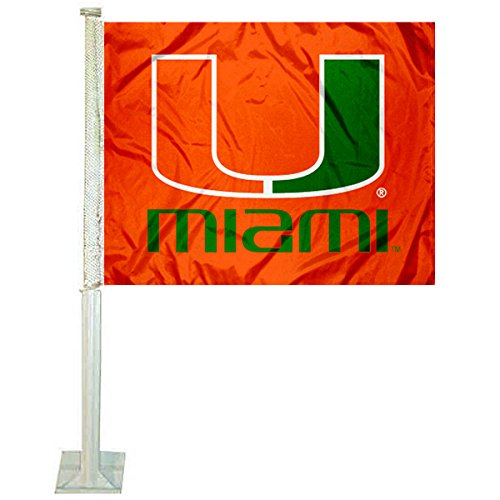 College Flags and Banners Co. Miami Hurricanes Car Flag