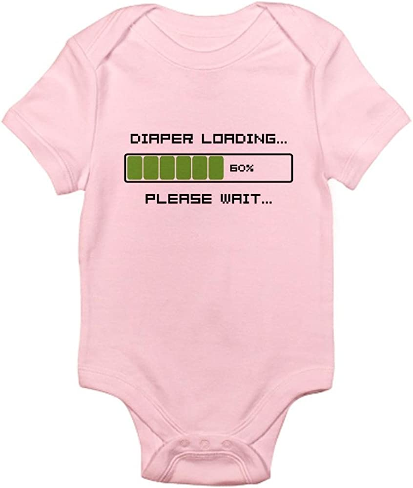 CafePress Diaper Loading Cute Infant Bodysuit Baby Romper
