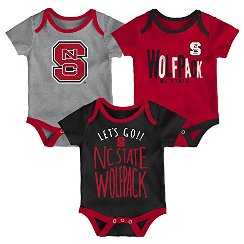 Gen 2 NCAA North Carolina State Wolfpack Newborn & Infant Little Tailgater Bodysuit, 18 Months, Dark Red ()