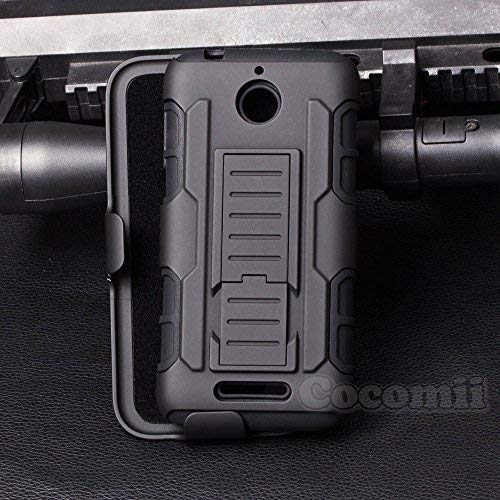 Cocomii Robot Armor HTC Desire 510 Case New [Heavy Duty] Premium Belt Clip Holster Kickstand Shockproof Hard Bumper [Military Defender] Full Body Dual Layer Rugged Cover for HTC Desire 510 (R.Black)