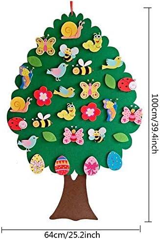 rosemaryrose 2020 Ostern Kinder DIY Filz Anhänger Kinderzimmer Cartoon-Wanddekoration Anhänger Lernspielzeug für Kinder Kinder