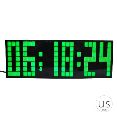 7cc2e36432f5 Grande de la Alarma LED Reloj de Pared Control Remoto Digital Tabla del  Escritorio del Reloj