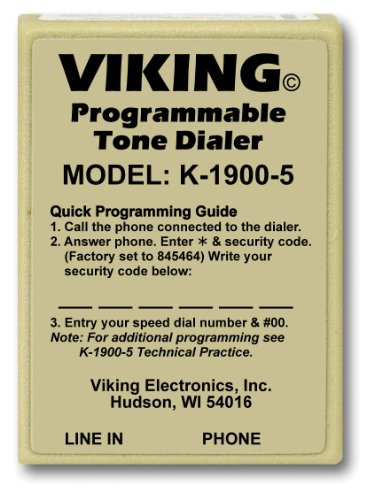 [해외]Viking Electronics K-1900-5 터치 톤 바이킹 핫 다이얼러/Viking Electronics K-1900-5 Viking Hot Dialer with Touch Tone