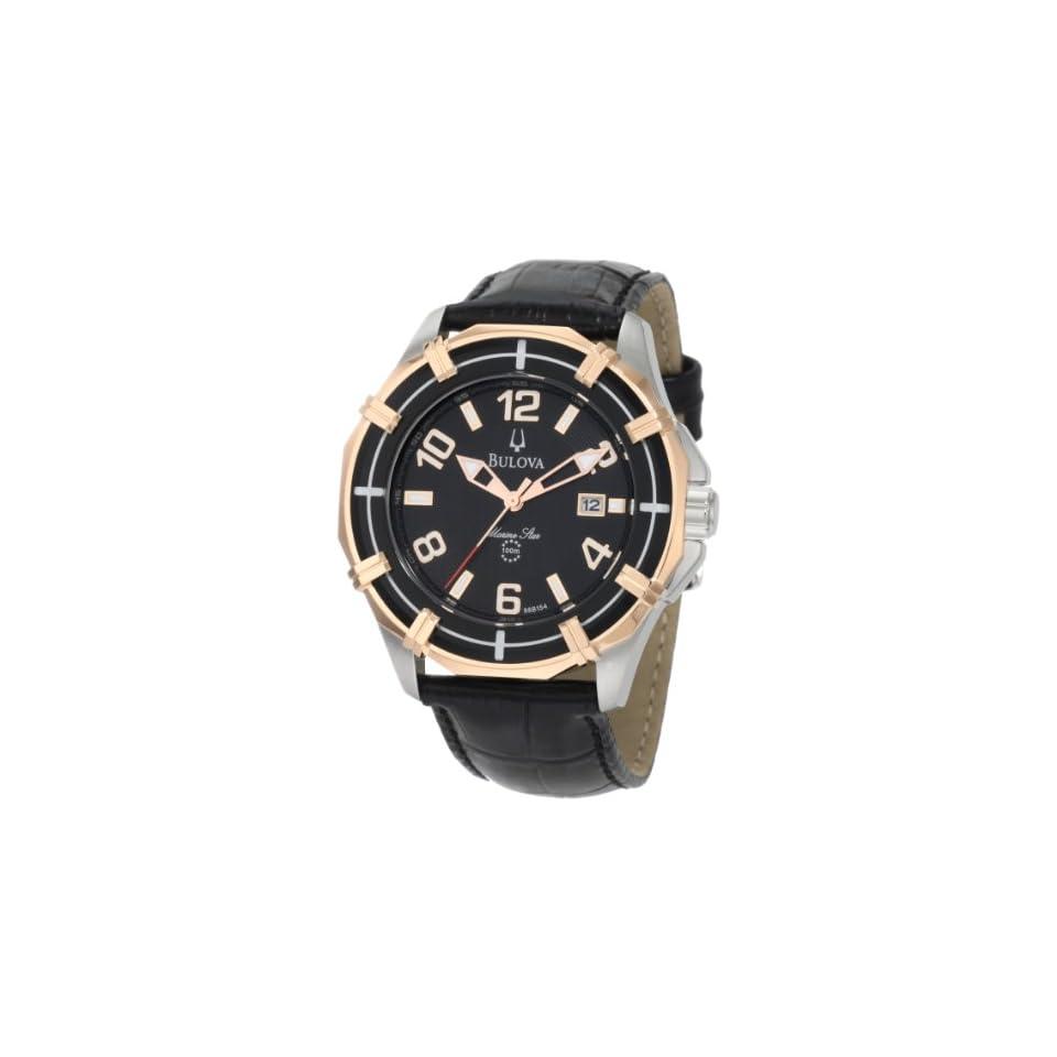 Bulova Mens 98B154 Solano Marine Star Leather strap Watch