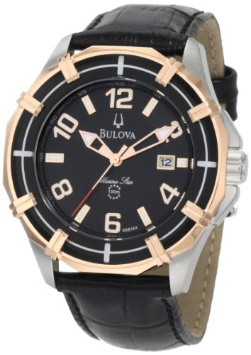 Bulova Men's 98B154 Solano Marine Star Leather strap Watch