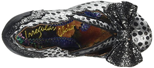 Zapatos Tacón Mujer de Irregular Curtain Call Choice Plateado qwS1gtz7