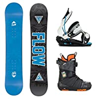 Flow Micron Verve and Micron Boa Kids Complete Snowboard Package 2015 by Flow