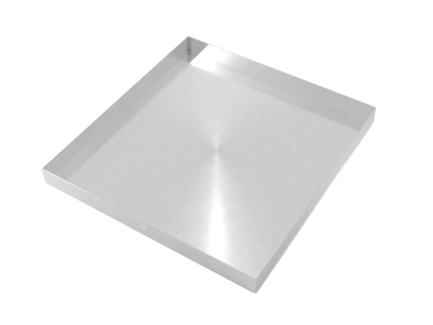 "32"" x 30"" 2.5"" Heavy Duty Washer Machine Drain Pan, Stainless Steel Fine (No Hole)"