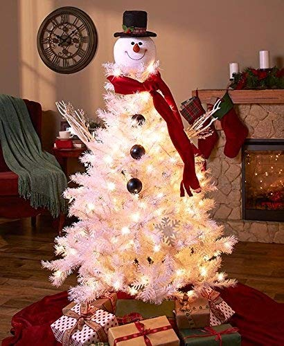2 pack frosty snowman top hat christmas tree topper decor