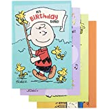 DaySpring Birthday Boxed Greeting Cards w Embossed Envelopes - Peanuts by Charles Schulz, 12 Count (86067)