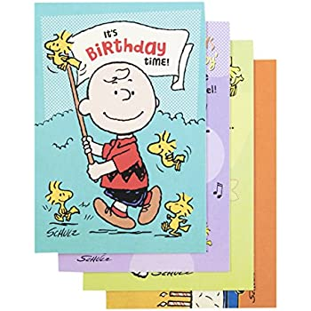 Amazon Snoopy Peanuts Happy Happy Happy Happy Birthday Card
