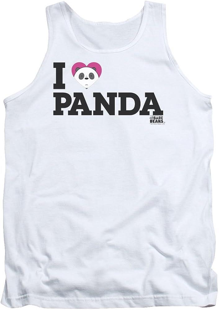 We Bare Bears Mens Heart Panda Tank Top