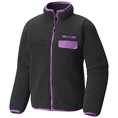 Pro Fleece Sherpa Jacket - Columbia Mountain Side Heavyweight Fz Fleece, Black/Crown Jewel, Medium