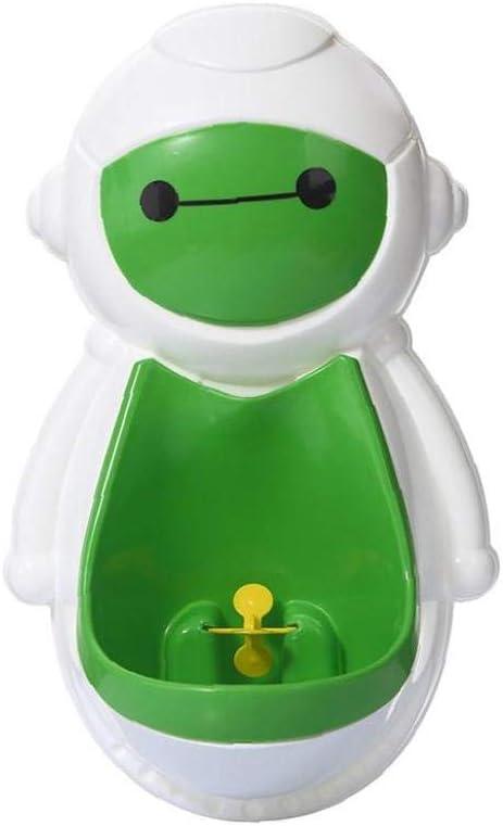Aseo beb/é Formaci/ón encantador robot de ni/ños Potty Entrenamiento del retrete inodoro suspendido Pee Entrenador Potties verde