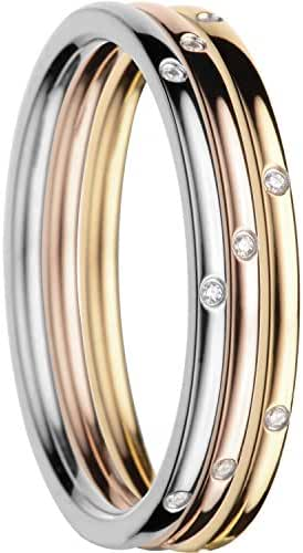 BERING Women's Ring Combination -Macau. Interchangeable Mix & Match Rings from the Arctic Symphony Collection. Designed in Denmark.