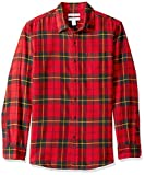 Amazon Essentials Men's Slim-Fit Long-Sleeve Plaid Flannel Shirt, Red/Yellow, XX-Large