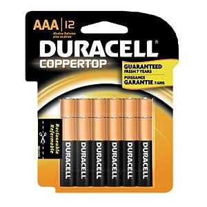 Amazon.com: Duracell Coppertop Alkaline AAA Batteries - 12